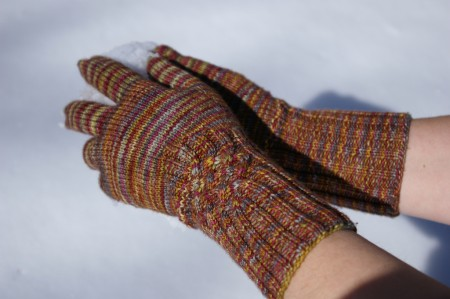 Finished Knotty Gloves