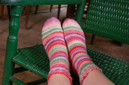 Handspun 'Fruit Salad' Socks