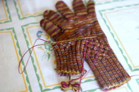 Knotty Gloves Progress