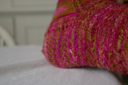 Mad Color Weave Socks - the heel