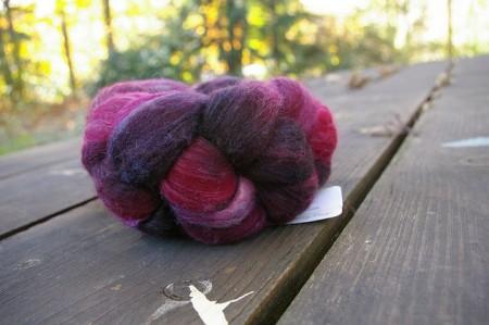 Merino/Silk 'Cranberry Bog'