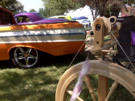 Spinning @ the car show