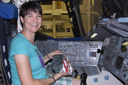 There is too knitting on the space shuttle!