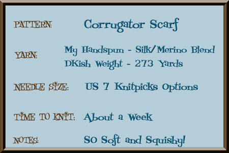 Project Notes for Corrugator Scarf